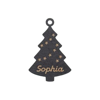 juletræ med navn og stjerner