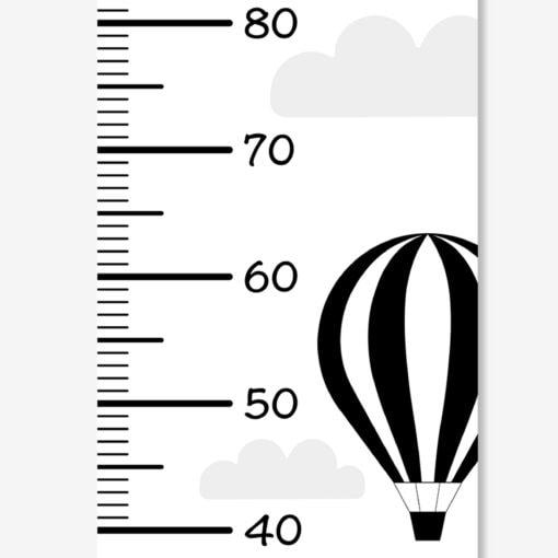højdemåler plakat med luftballoner og skyder på