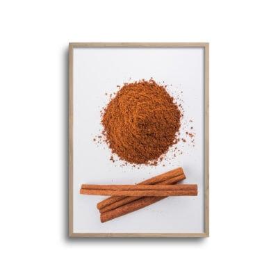 plakat med kanel krydderi