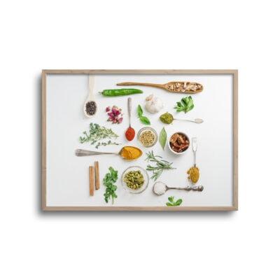 flatlay plakat med krydderier