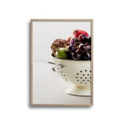 plakat med frugter og grønsager i en skål