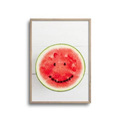 plakat af smilende vandmelon