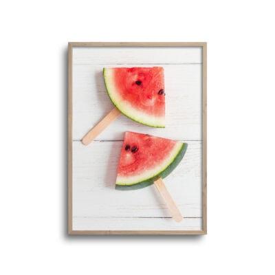 plakat af vandmeloner på ispinde