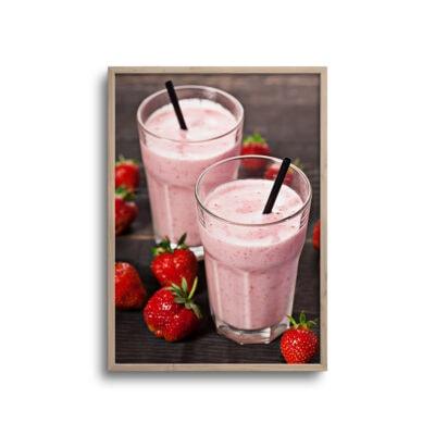 plakat af jordbær milkshake