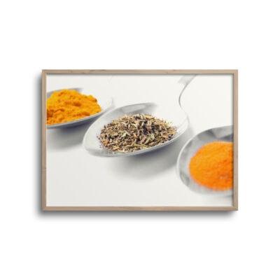 plakat af krydderier på skeer