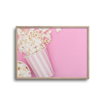 plakat af popcorn i bærre