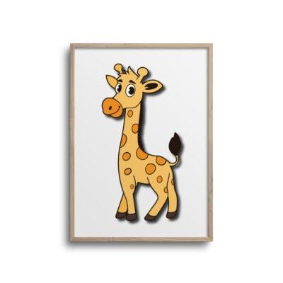 giraf plakat