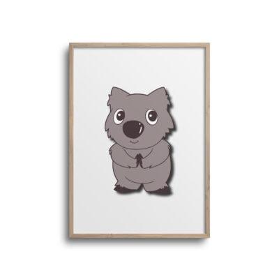 wombat plakat