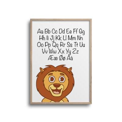 Løve alfabet plakat