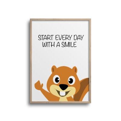 Egern every day - plakat - hvid