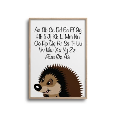 Pindsvin alfabet plakat