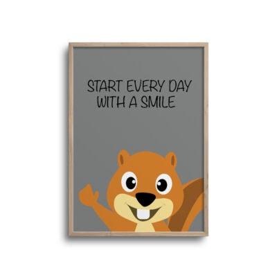 Egern every day grå plakat