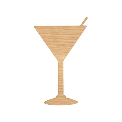 Martini glas til væggen