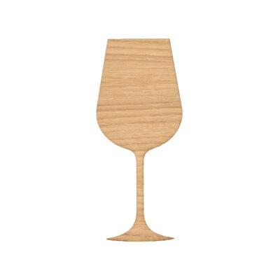 Vin glas til væggen