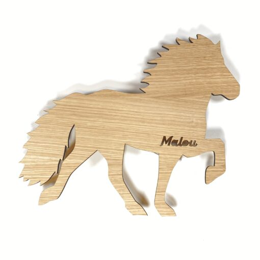 Hest - lampe egetræsfiner