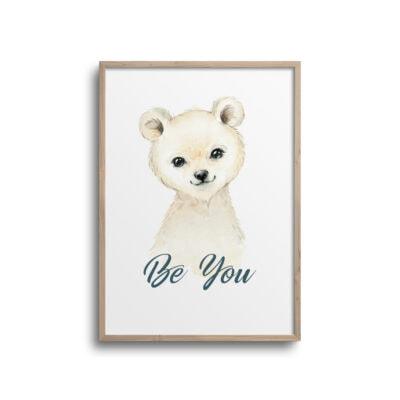 Isbjørn plakat på hvid væg